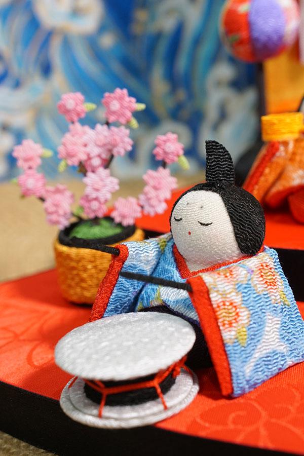 búp bê vua va hoàng hậu Nhật bằng vải
