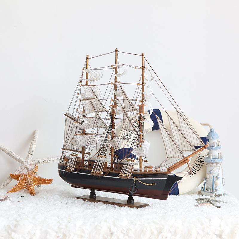 thuyền buồm gỗ trang trí