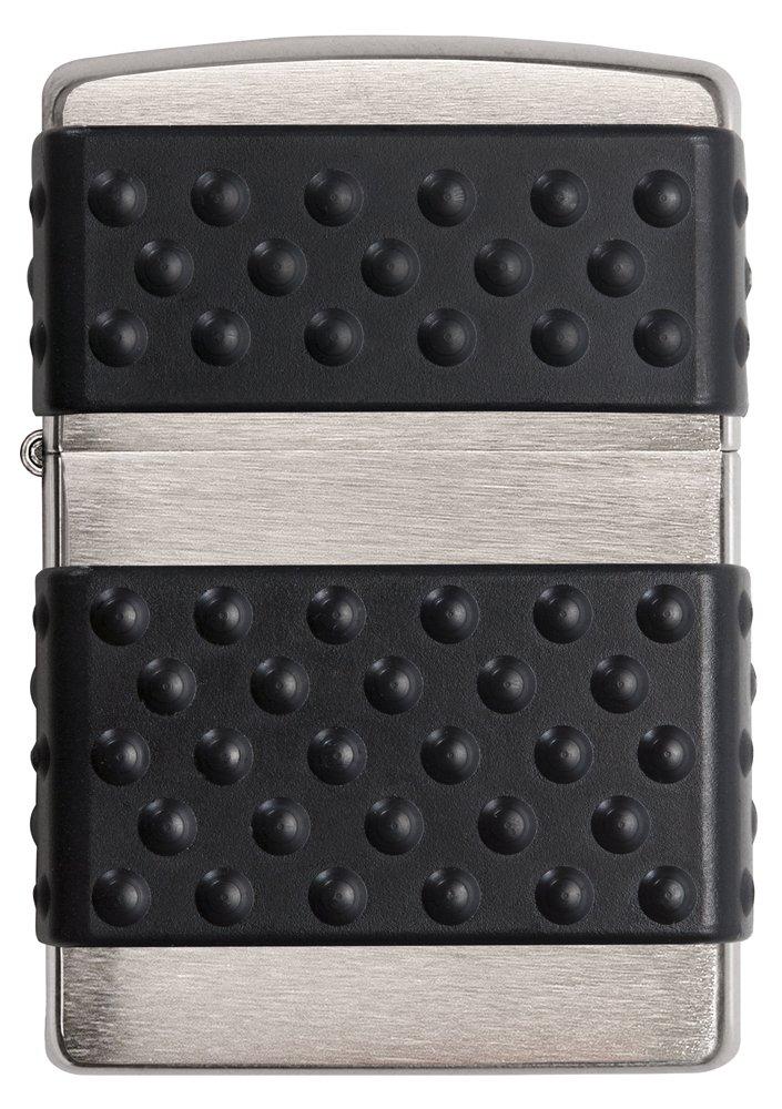 Zippo Black Zip Guard Pocket Lighter Brushed Chrome
