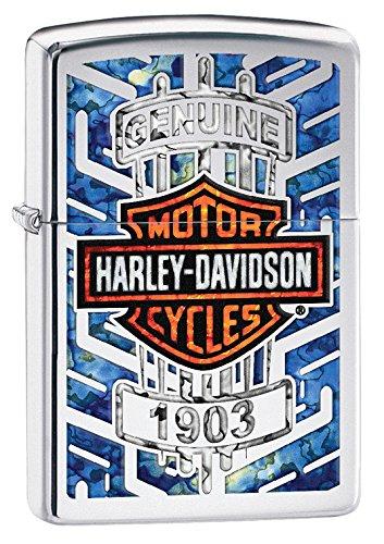 Zippo Harley Davidson Logo Armor Ice Pocket Lighter Chrome