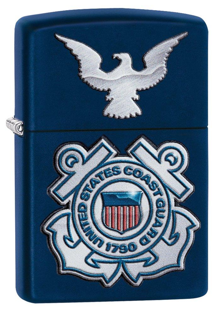 Zippo United States Coast Guard Logo Pocket Lighter Navy Matte