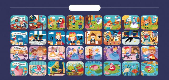 nhiều slide với nhiều câu chuyện