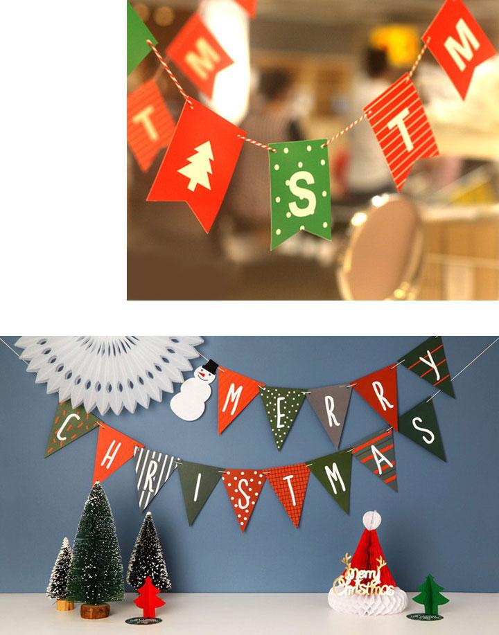 dây cờ treo Giáng Sinh
