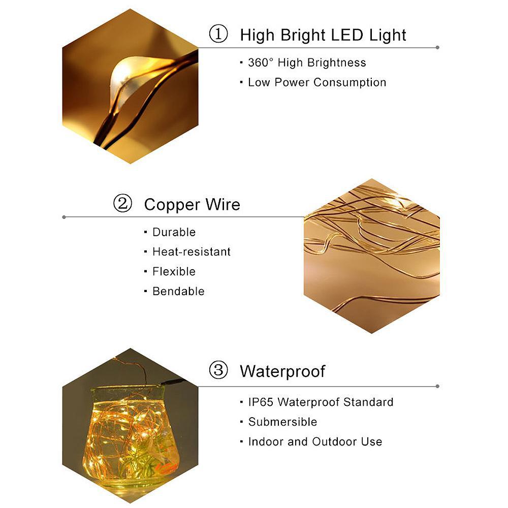 đèn dây led màu vàng