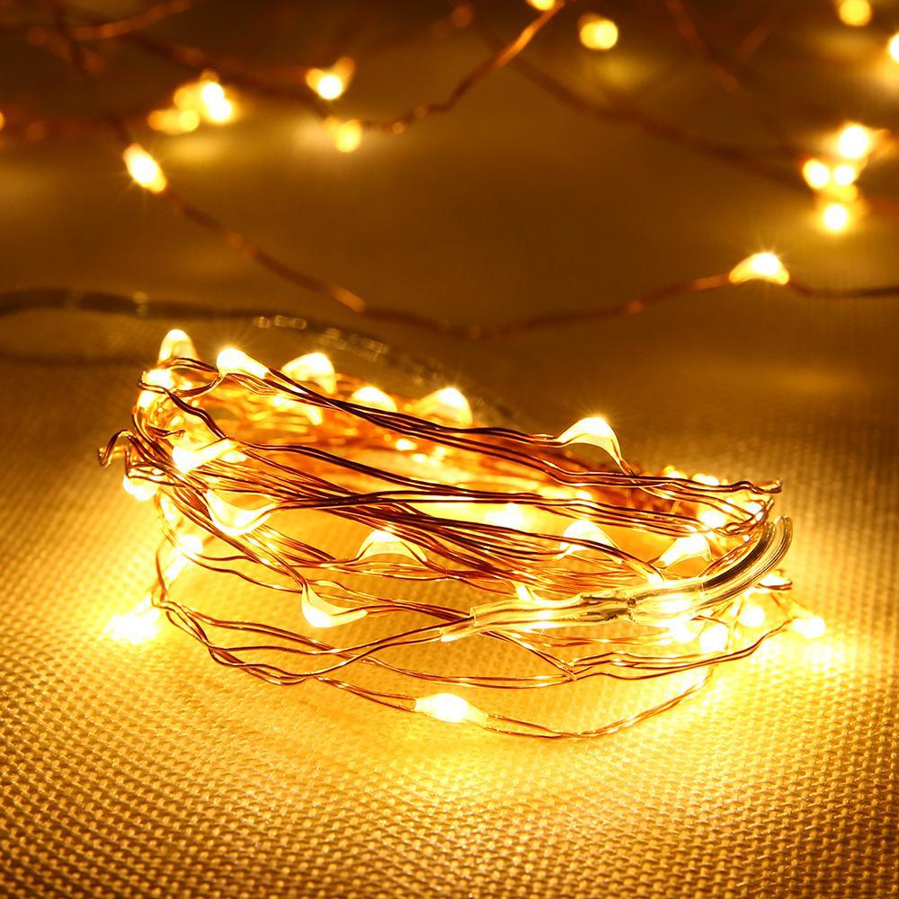 đèn led đom đóm màu vàng