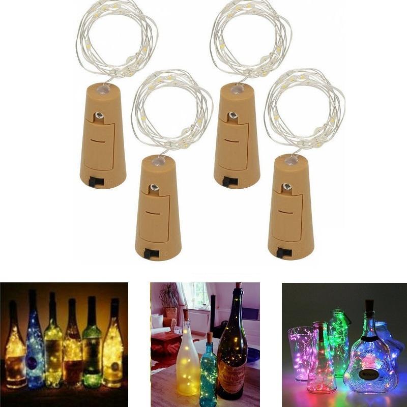 đèn led nút chai nhiều màu