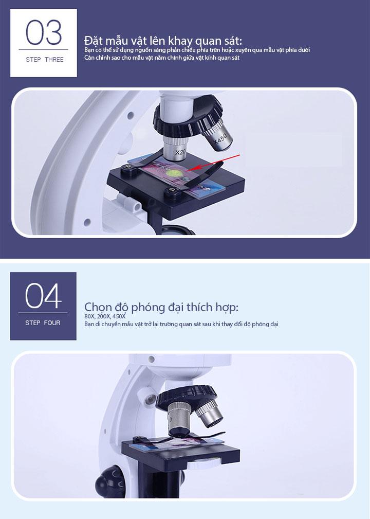 kính hiển vi trắng