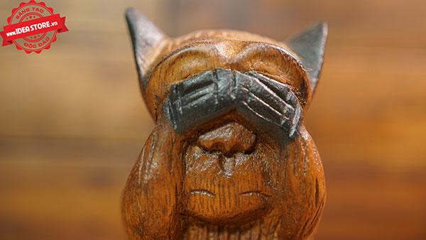 tượng khỉ gỗ